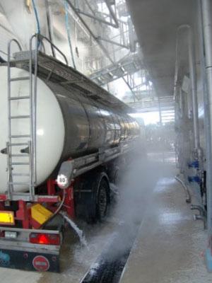 Reinigungsbahn mit Tankwagen